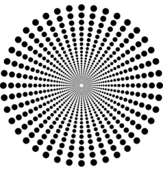 Circles in circle depth vector image