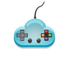 Cloud control game idea symbol vector