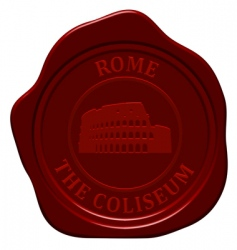 coliseum sealing wax vector image