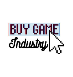 Color vintage game industry emblem vector