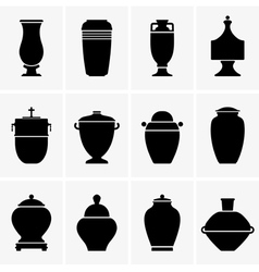 Cremation urn vector