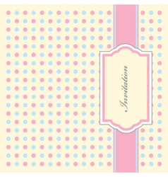 Dotty invitation pattern vector
