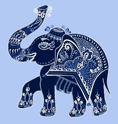 ethnic folk art indian elephant vector image vector image