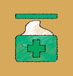 flat shading style icon medical napkins vector image