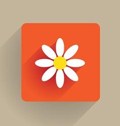 Flower flat vector