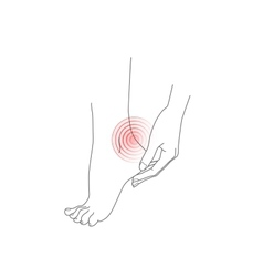 Hand and foot pain feet vector image