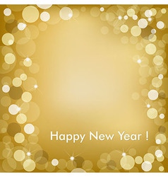 Happy new year golden background vector