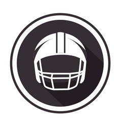 Monochrome circular frame with american football vector