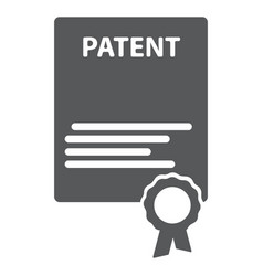 patented document with approved stamp icon vector image