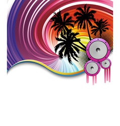 rainbow beach party vector image vector image