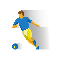 Running football player vector
