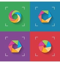 Shutter flat icons vector