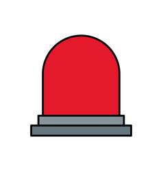Siren or beacon icon image vector