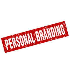 square grunge red personal branding stamp vector image