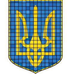 Ukrainian flag and coat of arms vector image
