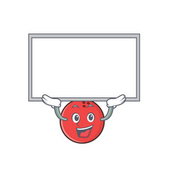 Up board bowling ball character cartoon vector