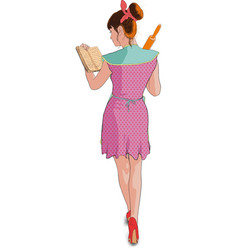 women cooking roller pin vector image vector image