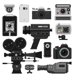 Photo and camera set vector