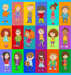 Decorative pattern design with kids vector