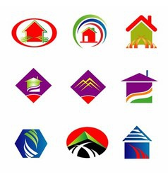 Collection of real estate logo vector