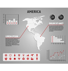 Map of america - infographic vector