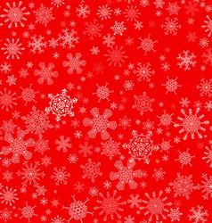 Red seamless christmas pattern with different vector