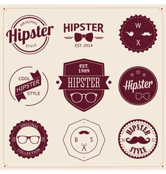 Set of vintage styled design hipster icons vector