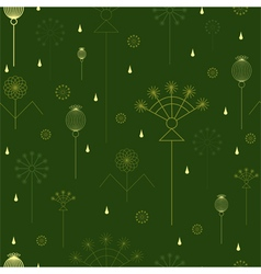 Seamless background with grass vector