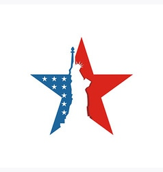 America usa logo liberty star icon vector
