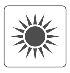 Sun icon light sign sunbeams gray vector