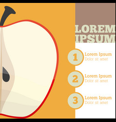 Apple fruit infrographic design vector