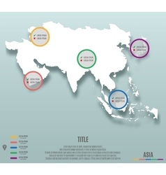 Asia continent template for infographics vector