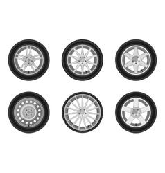Auto wheels set vector image vector image