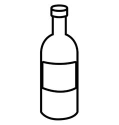 Black liquor bottle graphic vector
