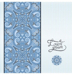Blue colour floral geometric background in vintage vector