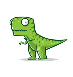Cartoon funny t-rex vector