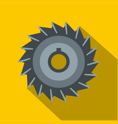 Circular saw disk icon flat style vector