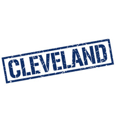 Cleveland blue square stamp vector