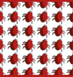 color pattern with beetle virus vector image vector image