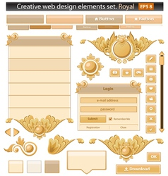 Creative web elements royal set vector