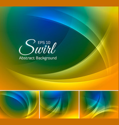 curvy abstract background duotone 2 vector image vector image