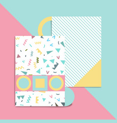 geometric card vector image
