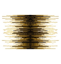 Gold texture and black lines decoration on the vector
