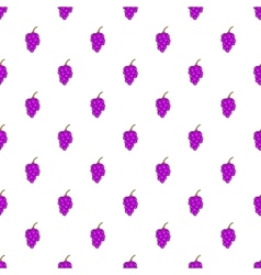 Grape branch pattern cartoon style vector