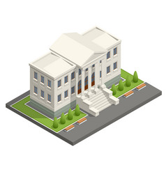 Isometric courthouse building law and justice vector