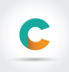 Letter c icon vector