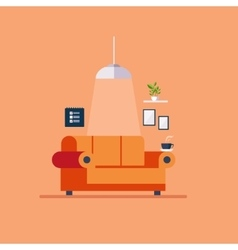Living room Flat style vector image vector image