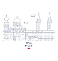 Lodz city skyline vector