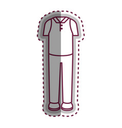 Man dress casual icon vector
