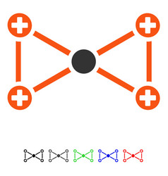 Medical nodes flat icon vector